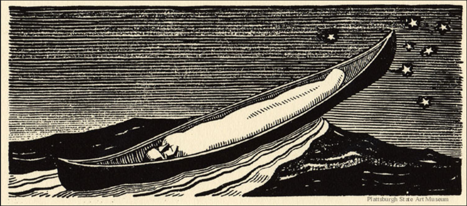 Queequeg In His Coffin - Rockwell Kent