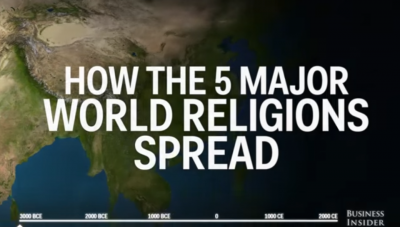 How the world's 5 major religions spread