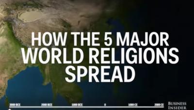How the world's 5 major religions spread