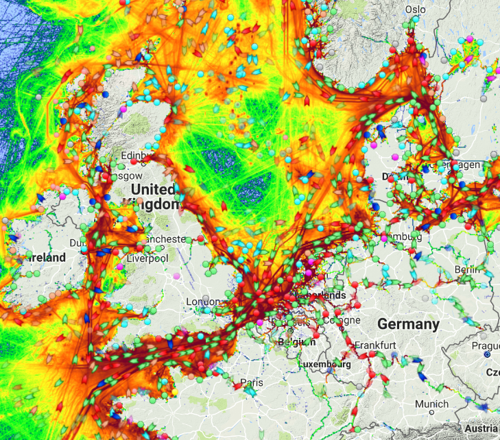 Ship Traffic Map.Map Of The Day All The World S Maritime Traffic The Sounding Line