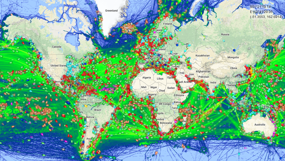 Map Of The Day All The World S Maritime Traffic The Sounding Line