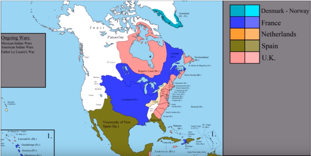 Map Of The Day The History Of North America The Sounding Line