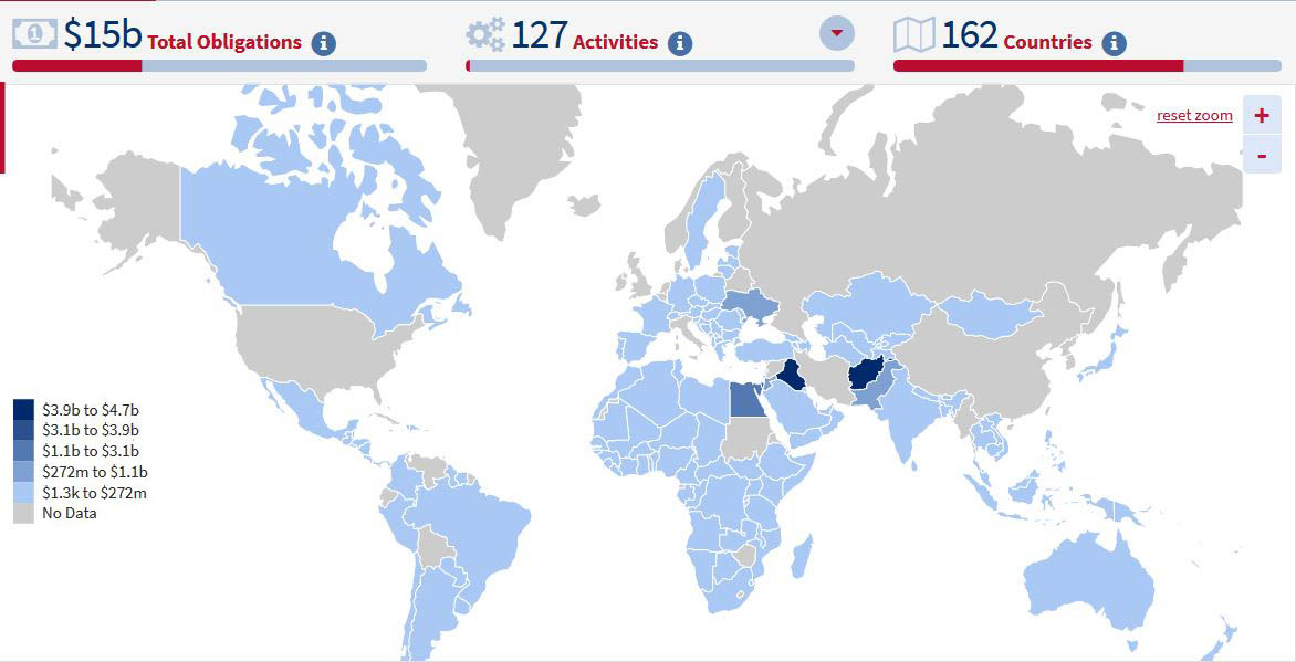 Which Countries Receive The Most Foreign Aid From The Us The - Map-of-us-countries