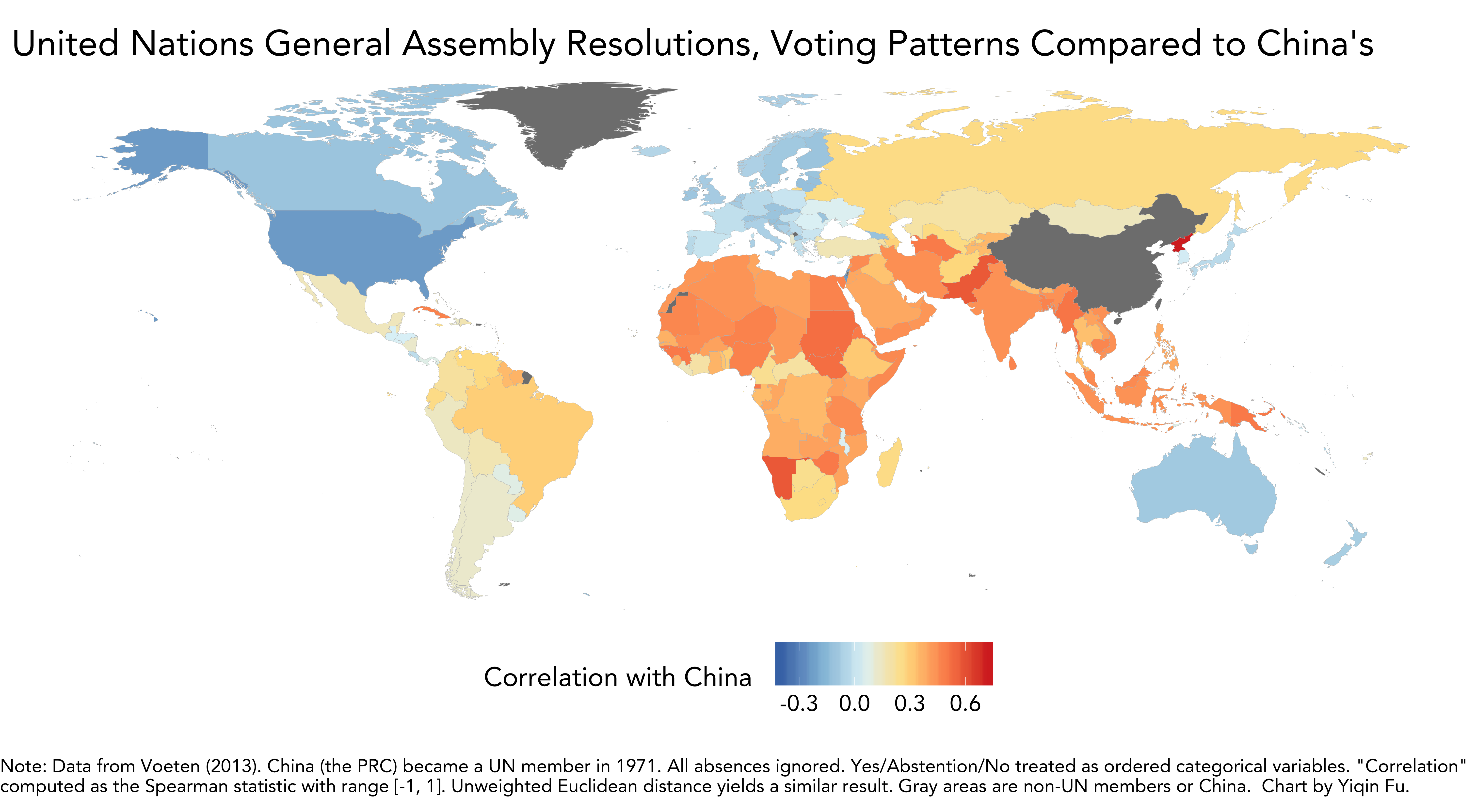 The United Nations Who Votes With China Vs The Us The Sounding Line