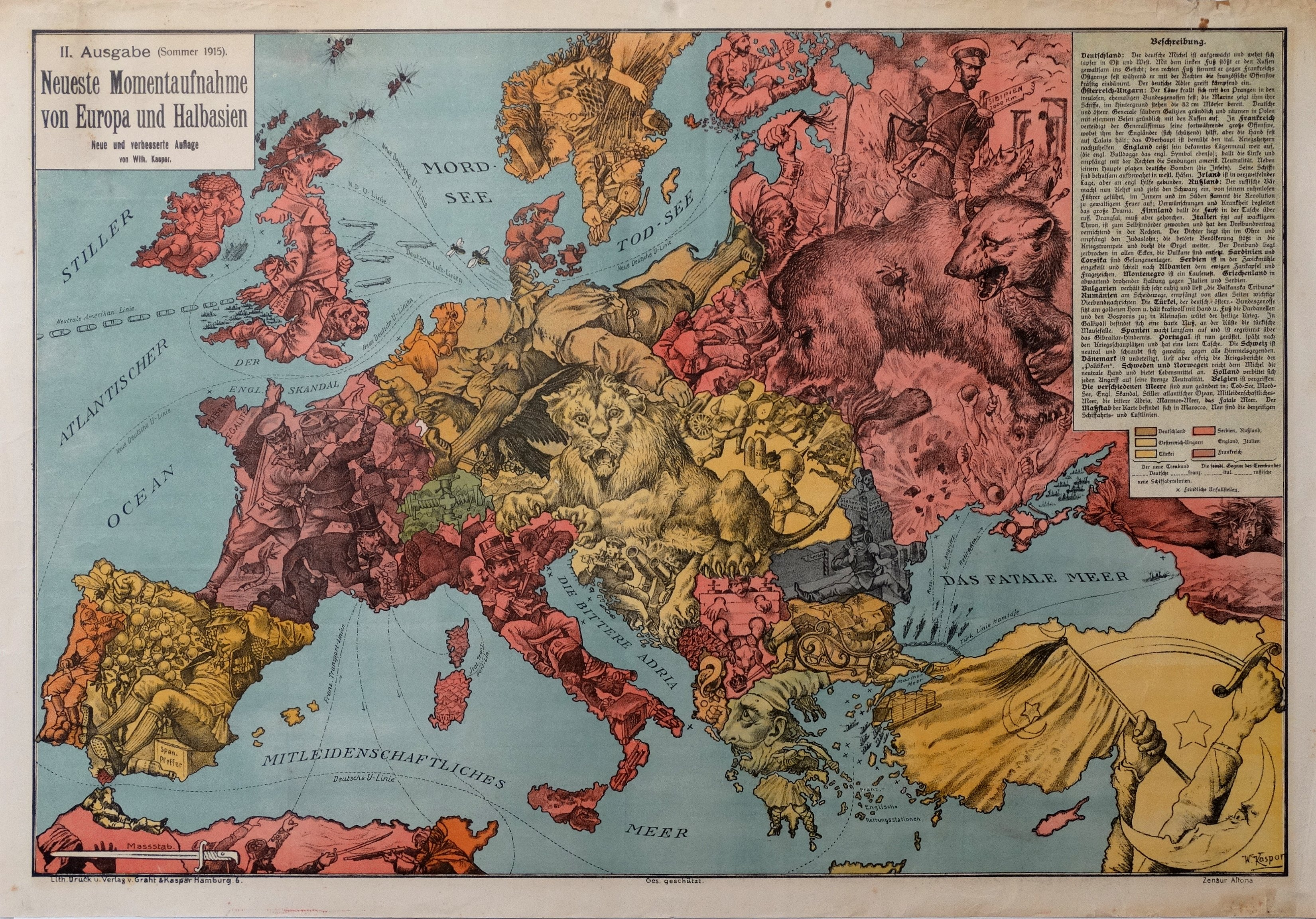 Map Of The Day Europe From Germany S Perspective One Year Into Wwi